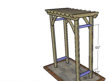 ساخت پرگولا چوبی