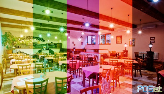 ترکیب بندی رنگ در دکوراسیون رستوران