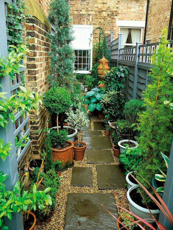 تزئین حیاط خلوت