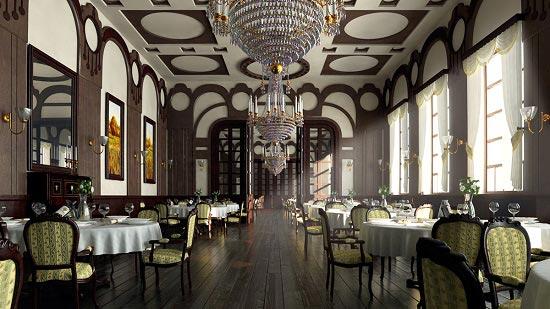 دکوراسیون رستوران کلاسیک و سنتی