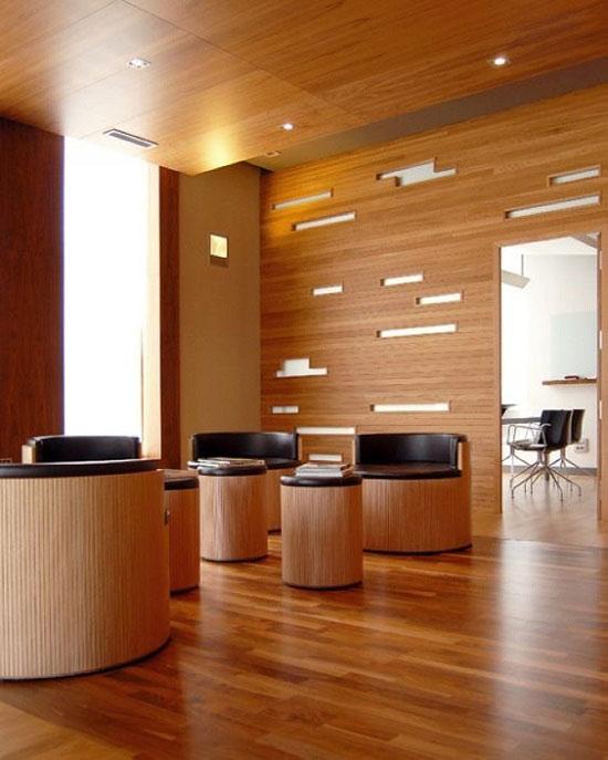 دکوراسیون چوبی دفتر کار