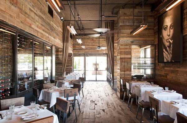 دکوراسیون چوبی رستوران