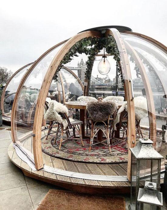 رستوران فضای بار، طراحی دکوراسیون رستوران، طراحی دکوراسیون چوبی، آلاچیق، پرگولا