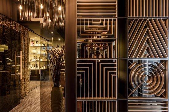 پارتیشن چوبی رستوران