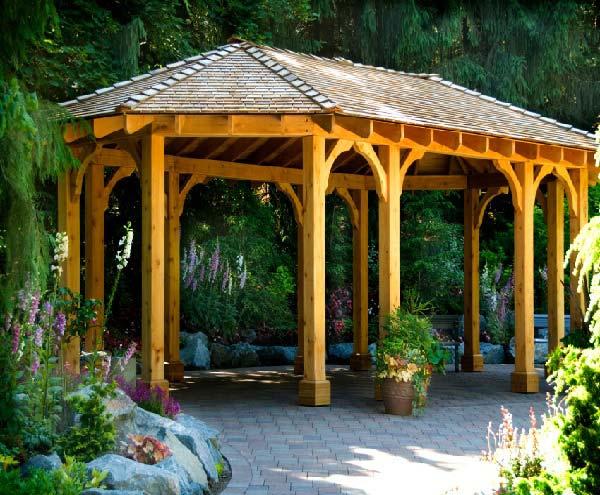 آلاچیق چوبی مدرن