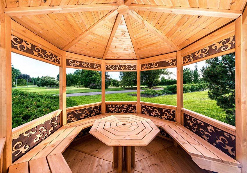 ساخت آلاچیق چوبی